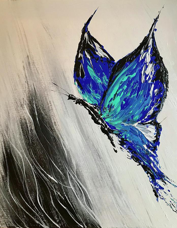 Abstract Butterfly Painting by Willy Proctor