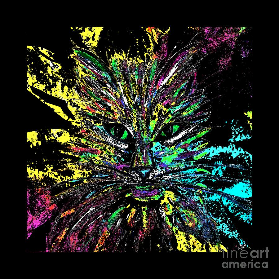 Abstract Cat  by Jessie Art
