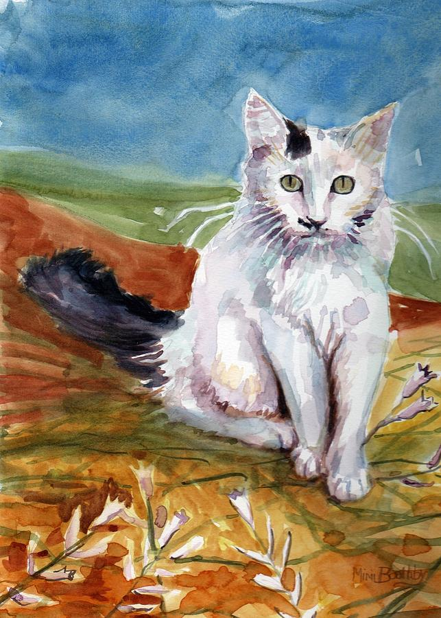 abstract cat by Mimi Boothby