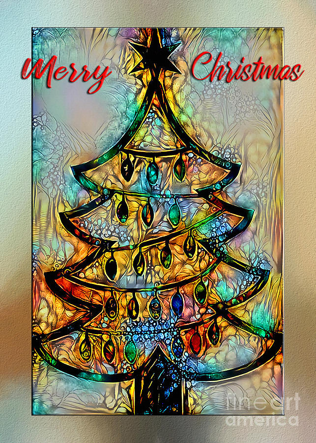 Abstract Christmas Wishes by Kaye Menner by Kaye Menner