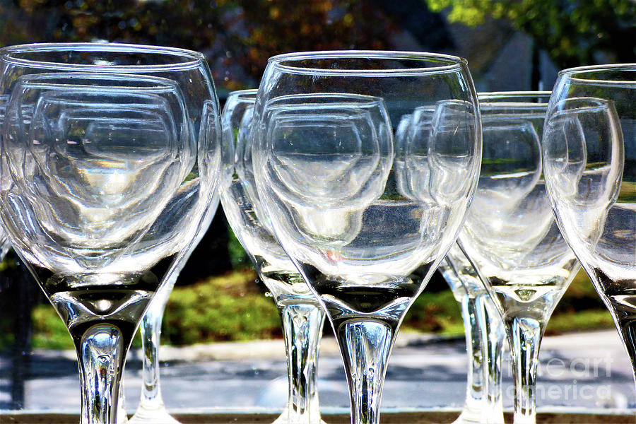 Abstract Clear Stemware by Sharon Williams Eng