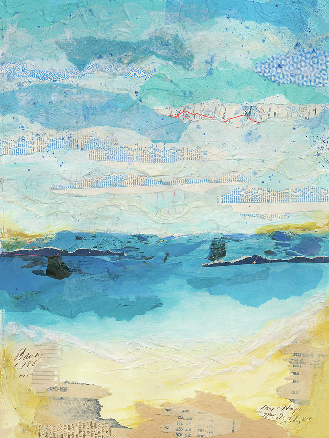 Abstract Painting - Abstract Coastal IIi by Courtney Prahl