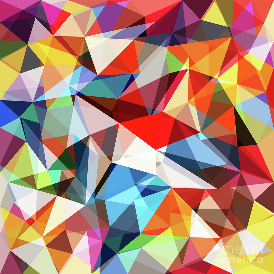 Abstract Colorful Geometrical Background Digital Art by Natrot