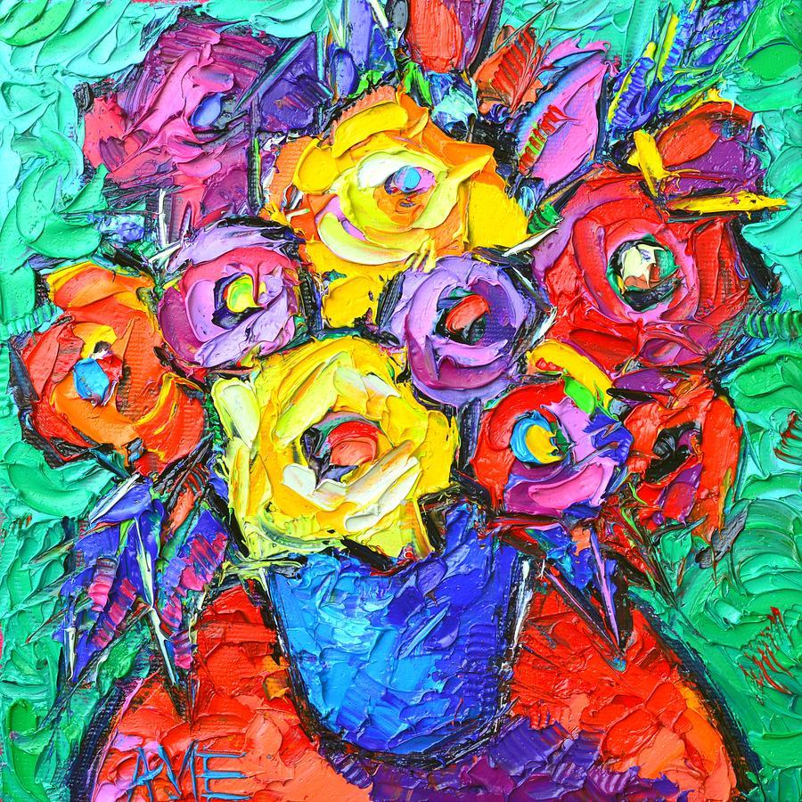 Flower Art Oil Painting