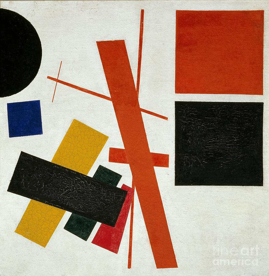 Abstract composition by Kazimir Malevich