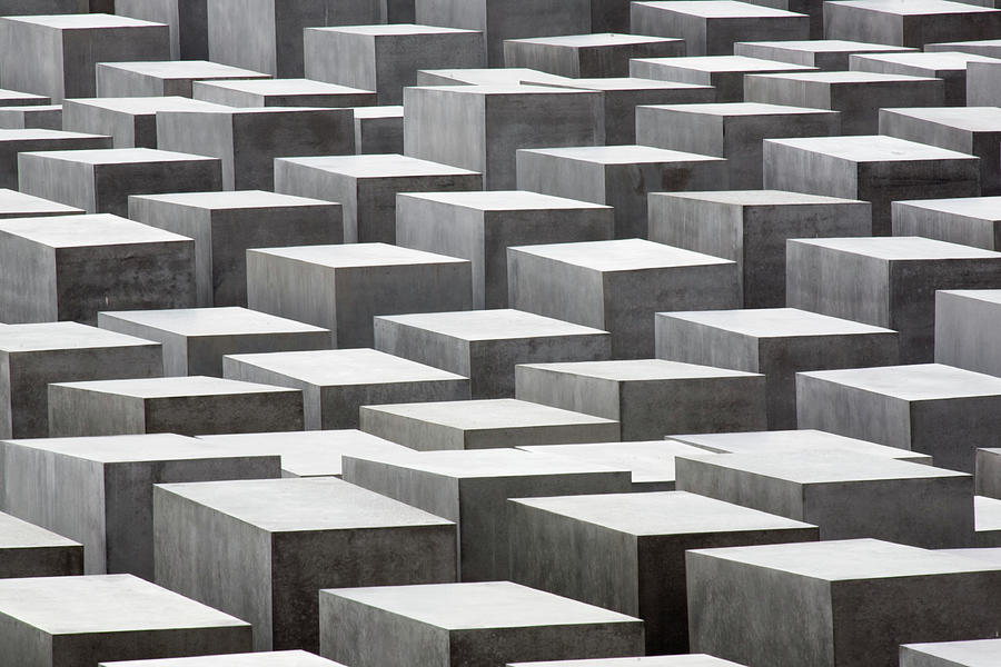 Abstract Concrete Blocks At The Jewish Photograph by David Clapp