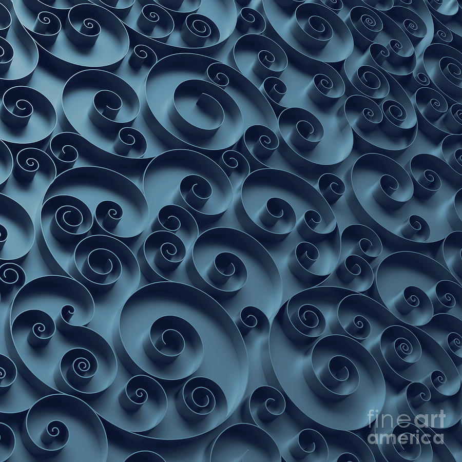 Abstract Curly Background, 3d Quilling Photograph by Wacomka