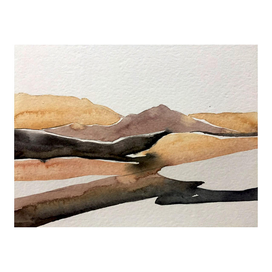 Desert Painting - Abstract Desert by Luisa Millicent