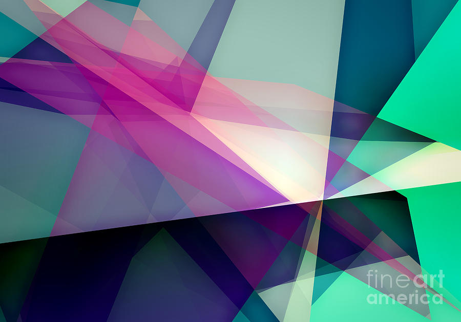 Software Digital Art - Abstract Dynamic Composition by Michalis