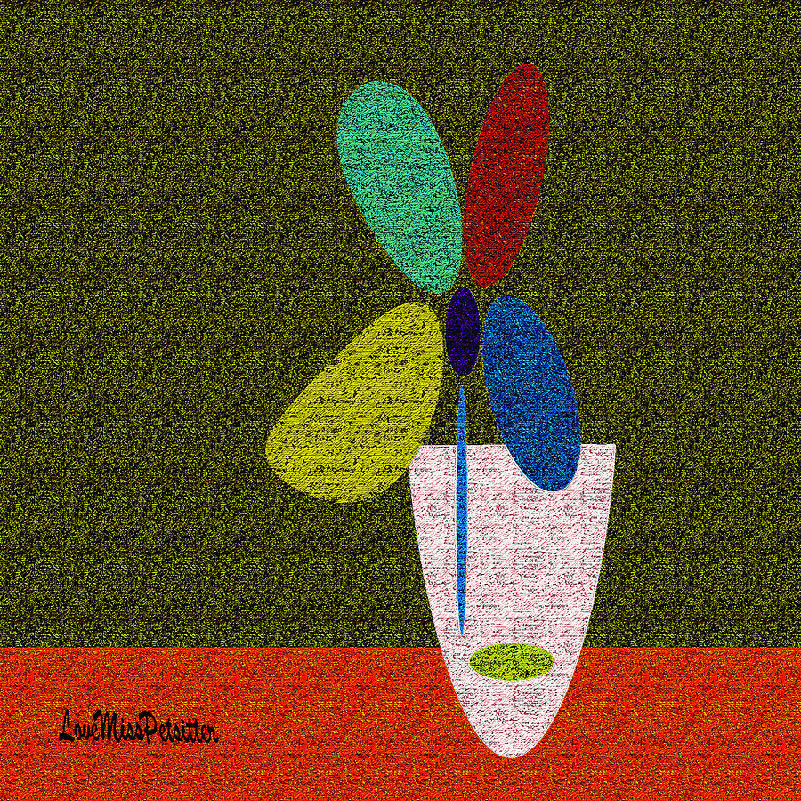 Abstract Floral Art 391 by Miss Pet Sitter