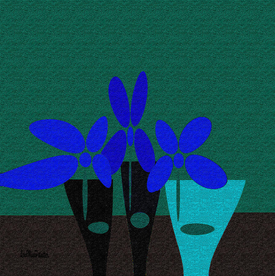 Abstract Floral Art 392 by Miss Pet Sitter