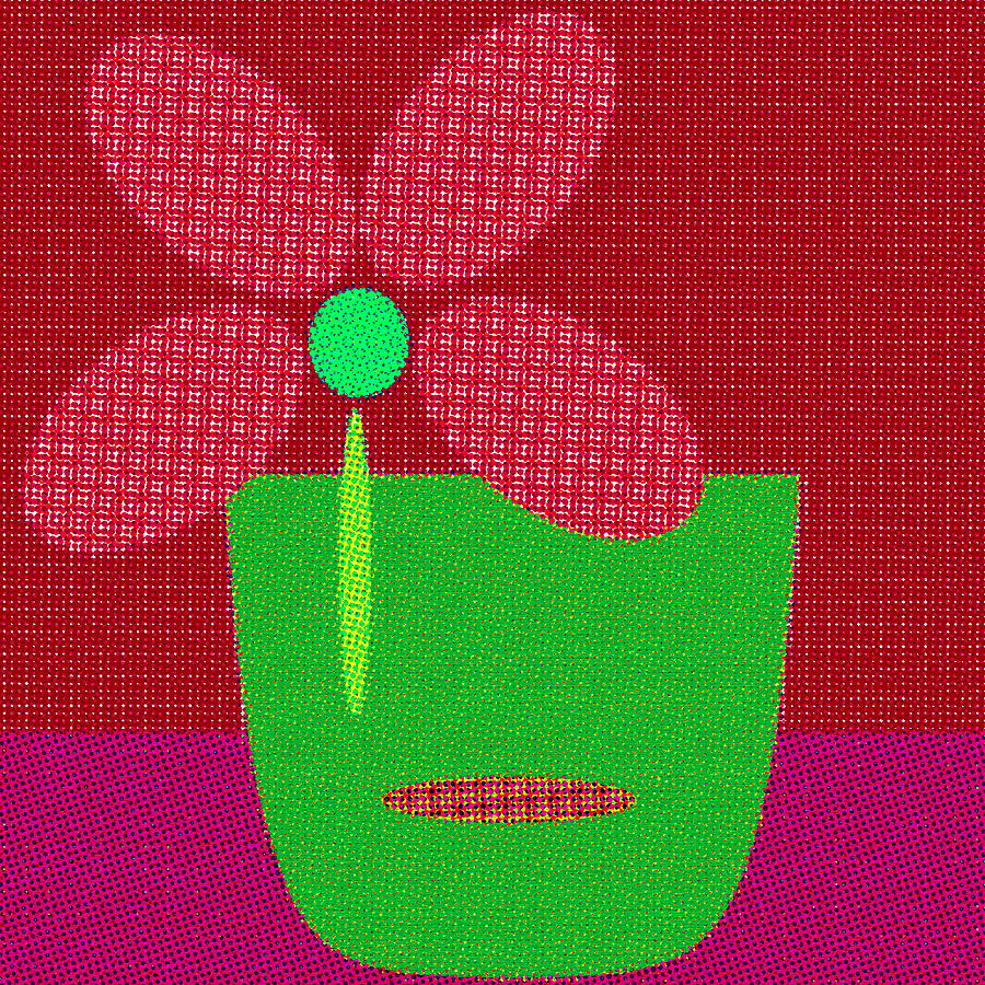 Abstract Floral Art 500 by Miss Pet Sitter