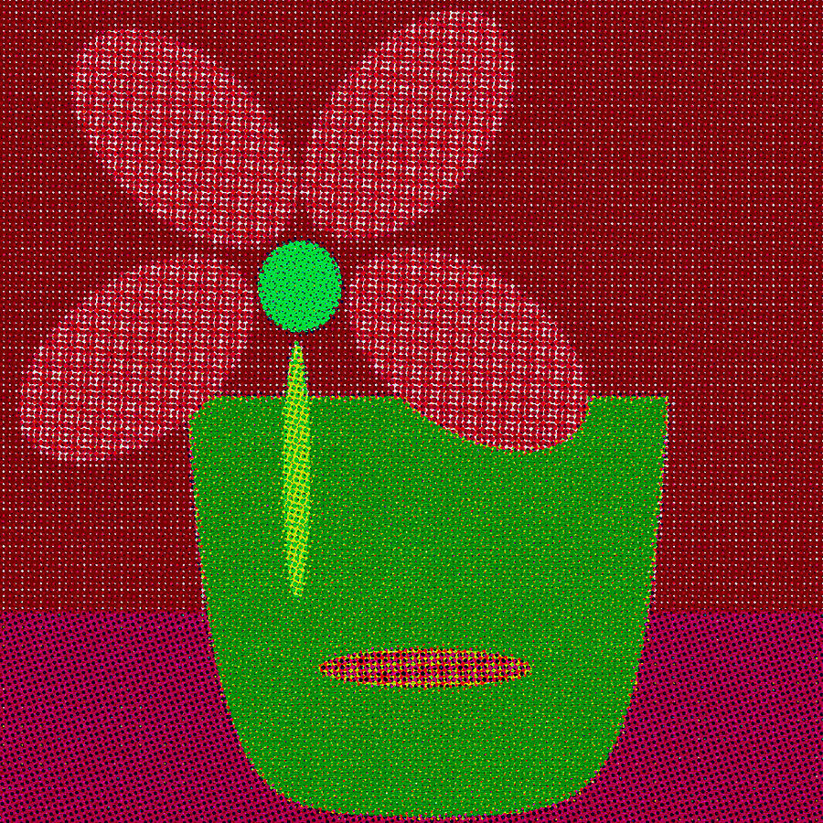 Abstract Floral Art 501 by Miss Pet Sitter