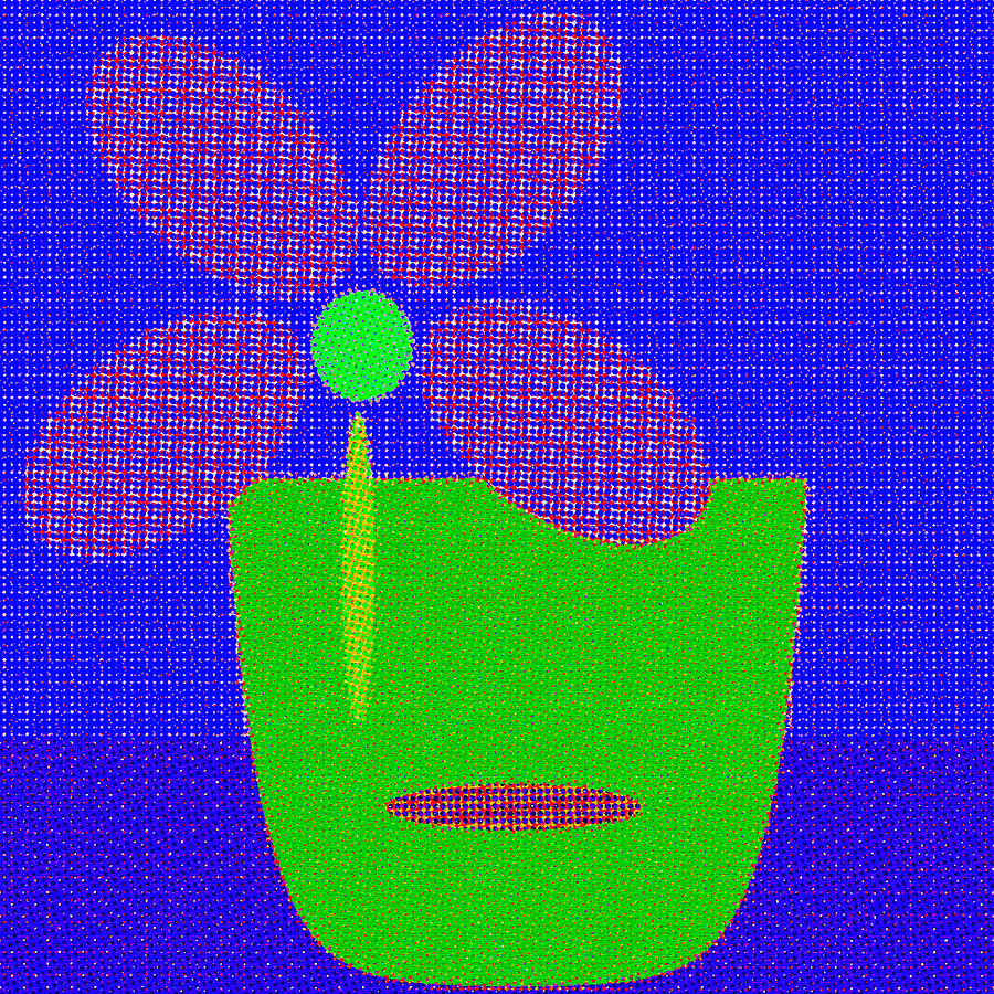 Abstract Floral Art 509 by Miss Pet Sitter
