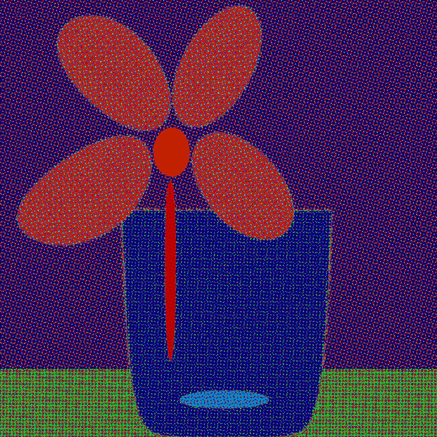 Abstract Floral Art 544 by Miss Pet Sitter