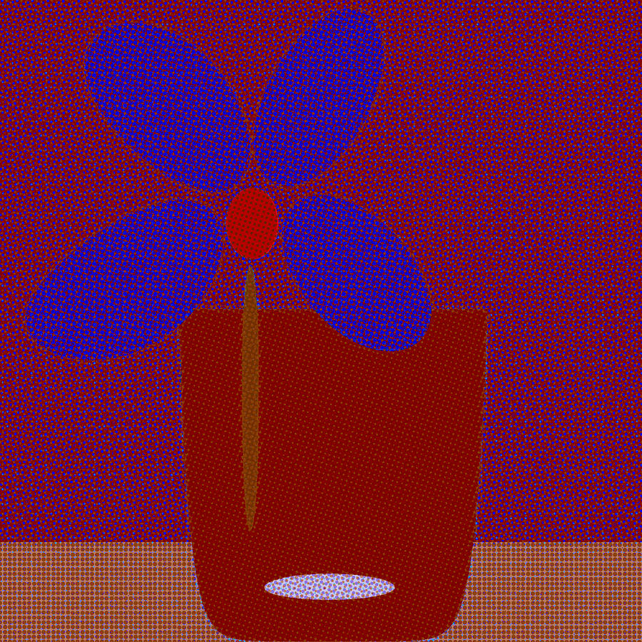 Abstract Floral Art  546  by Miss Pet Sitter