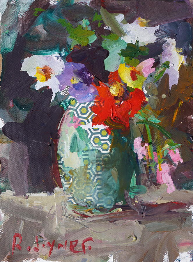 Flower Painting - Abstract Flower Still Life Painting by Robert Joyner