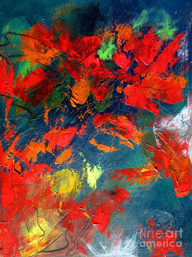 abstract flowers in fall  by Mary Cahalan Lee- aka PIXI