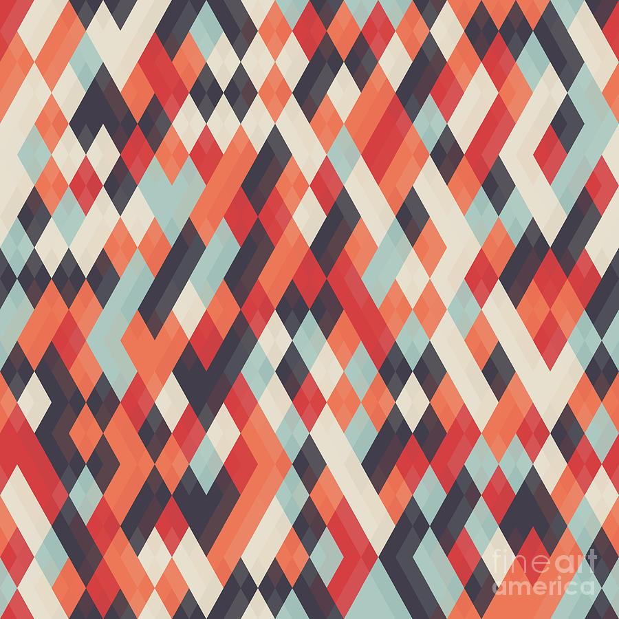 Template Digital Art - Abstract Geometric Background by Churunchik