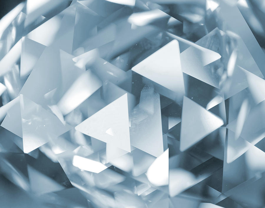 Abstract Glass Triangles Photograph by Hanis
