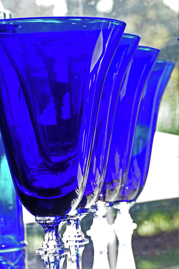 Abstract Glasses In Blue 300 Photograph