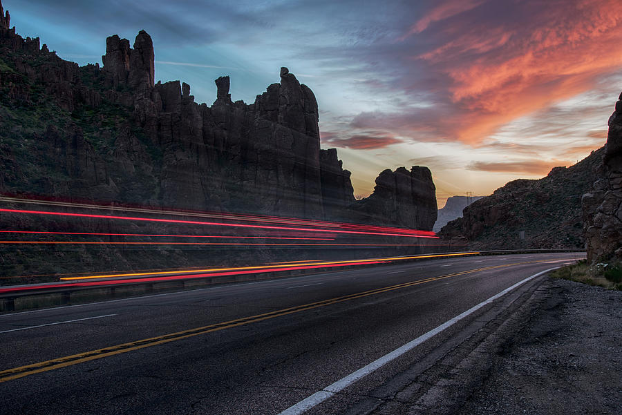 Abstract hwy 60 canyon near Superior Arizona by Dave Dilli