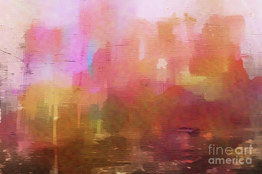 Abstract in Pink by Marcia Lee Jones