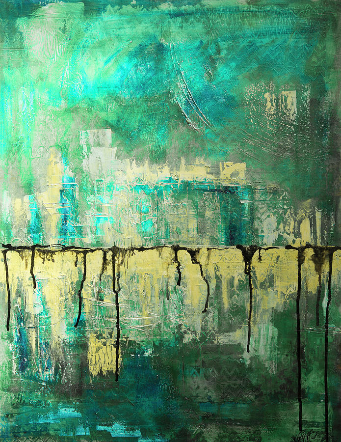 Abstract in Yellow and Green 2 by Jocelyn Friis