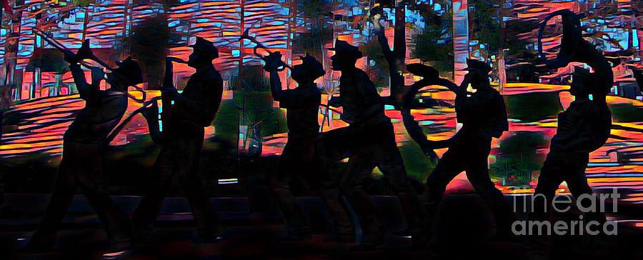 Abstract Jazz Band by John Malone