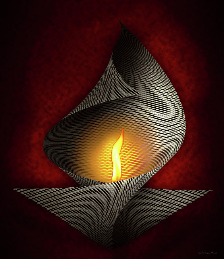 Abstract - Jewish - Eternal flame by Mike Savad
