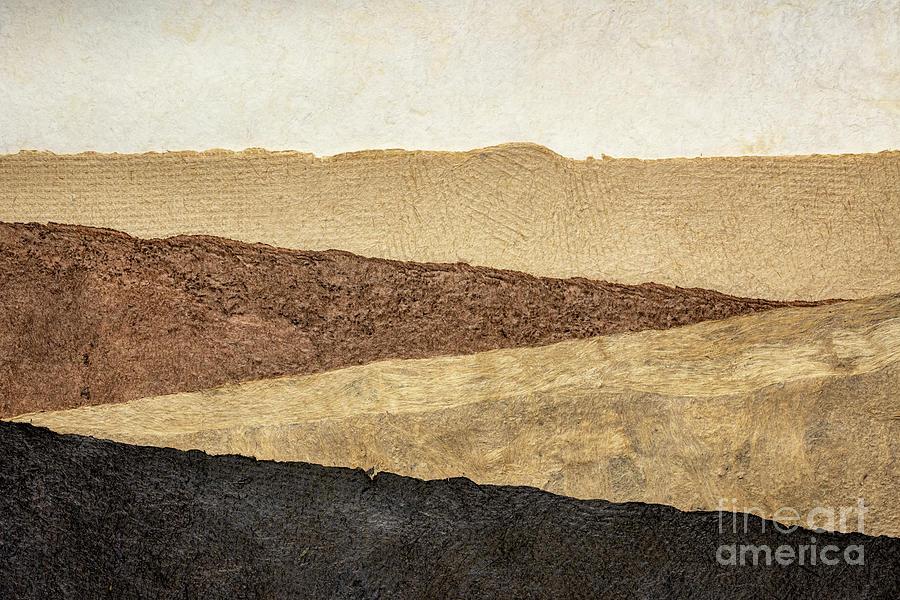 abstract landscape in earth tones by Marek Uliasz