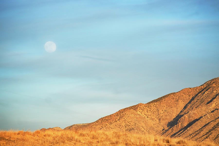 Abstract Landscape Mountain Moon Photograph by Amygdala imagery