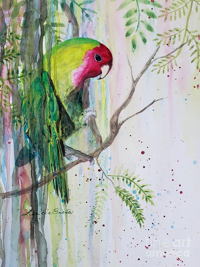 Abstract lovebird by LISA DEBAETS