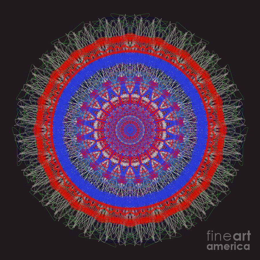 Abstract Mandala Sphere by Catherine Lott