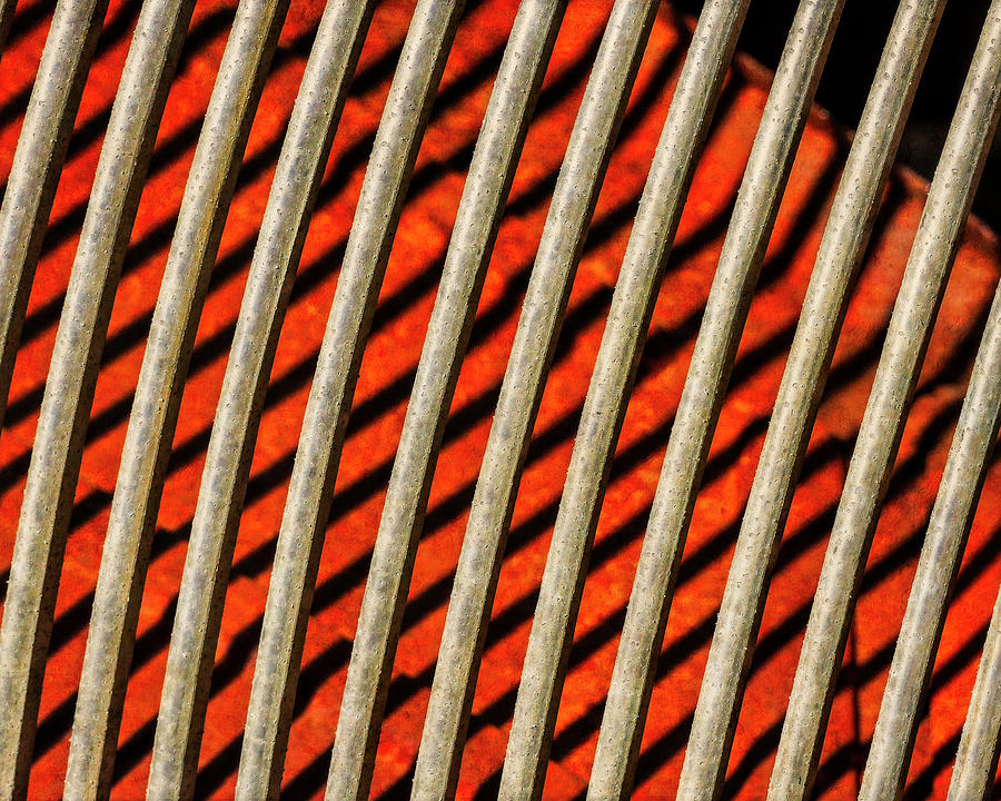 Industrial Photograph - Abstract Metal Grate by Sandra Selle Rodriguez