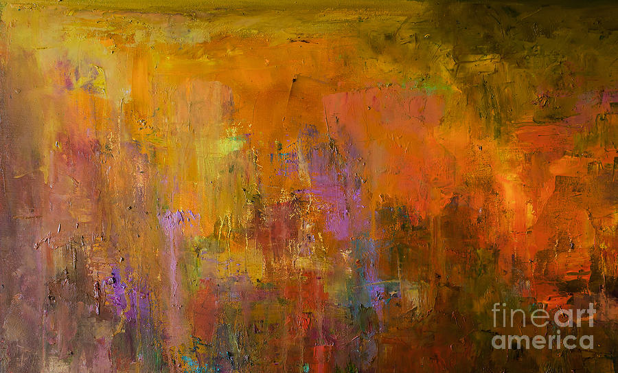 Beauty Photograph - Abstract Oil Painting Background. Oil by Anton Evmeshkin