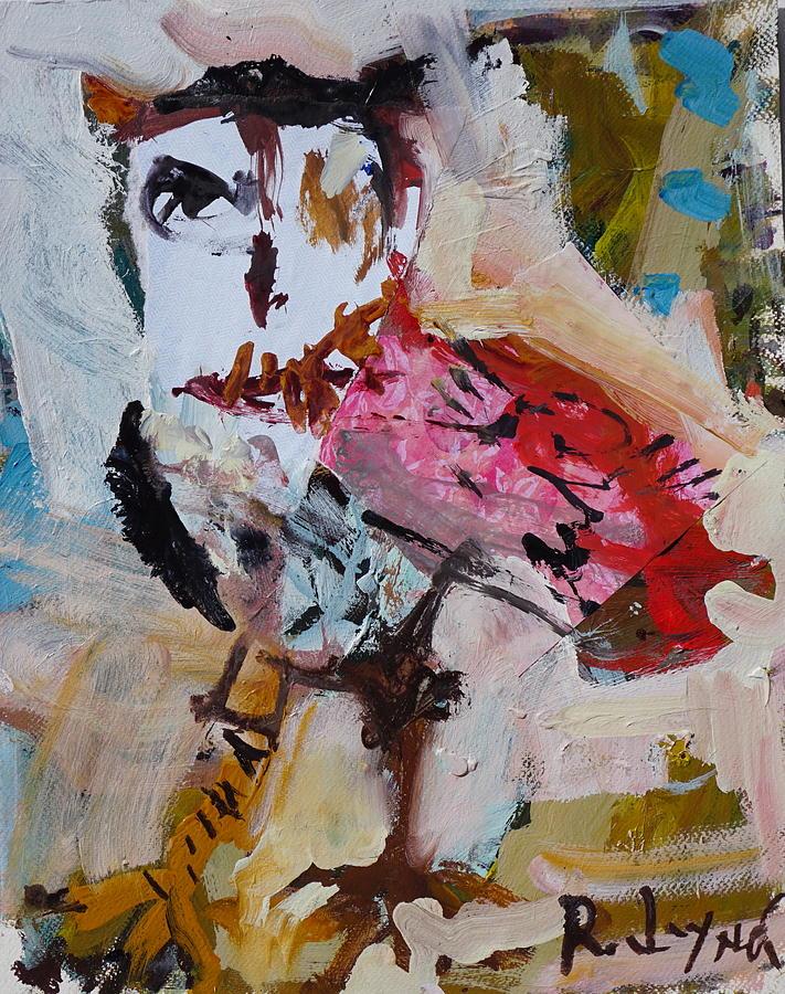 Owl Painting - Abstract Owl Artwork by Robert Joyner