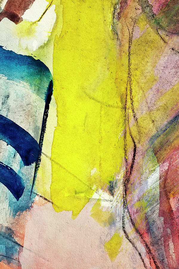 Abstract Painted Blue And Yellow  Art Photograph by Ekely