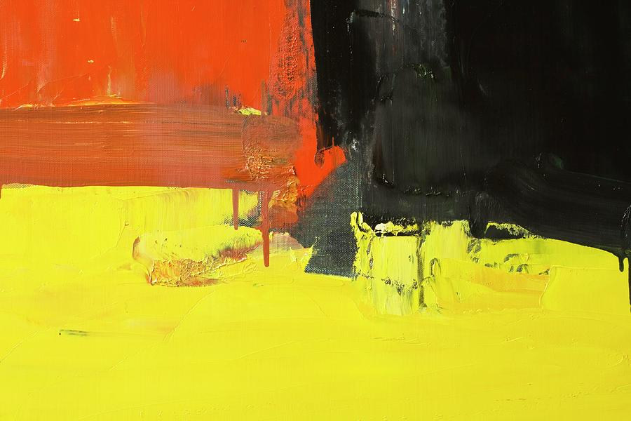 Abstract Painted Red Yellow And Black