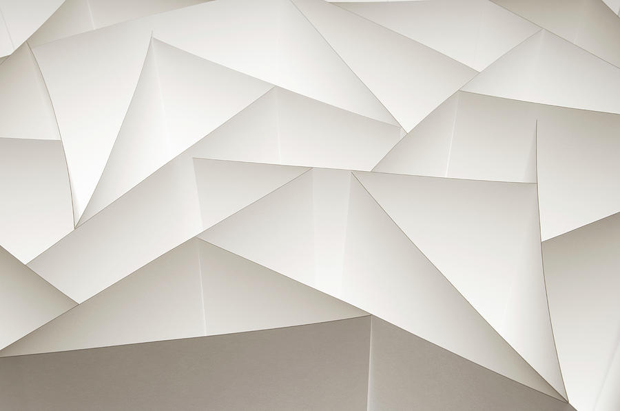 Abstract Paper Design Photograph by Paul Taylor
