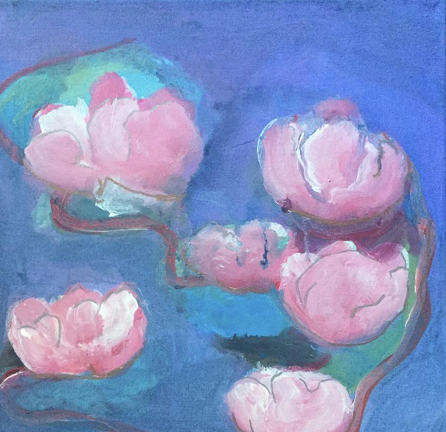 Abstract Pink Flowers by Cherylene Henderson