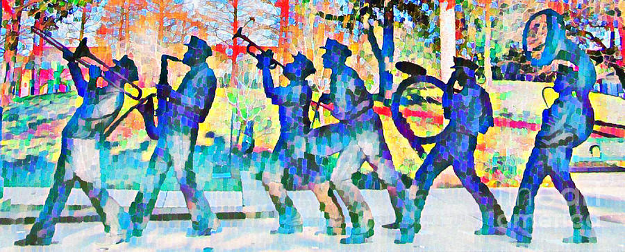 Abstract Pointillism Of Jazz Band