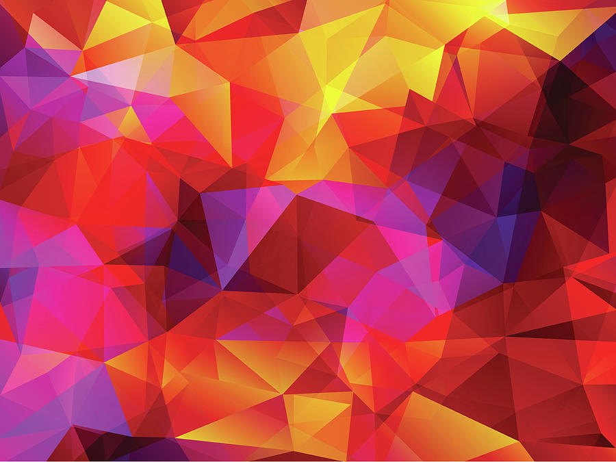 Abstract  Polygonal  Background Digital Art by Carduus