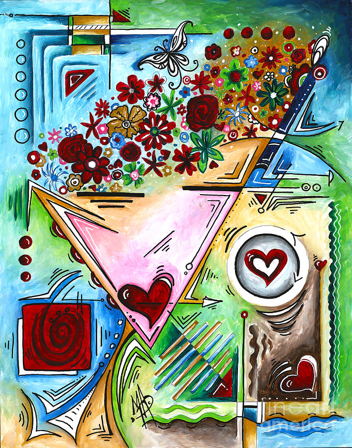 Abstract PoP Art Face Art Original Empowered Painting by Megan Duncanson by Megan Duncanson