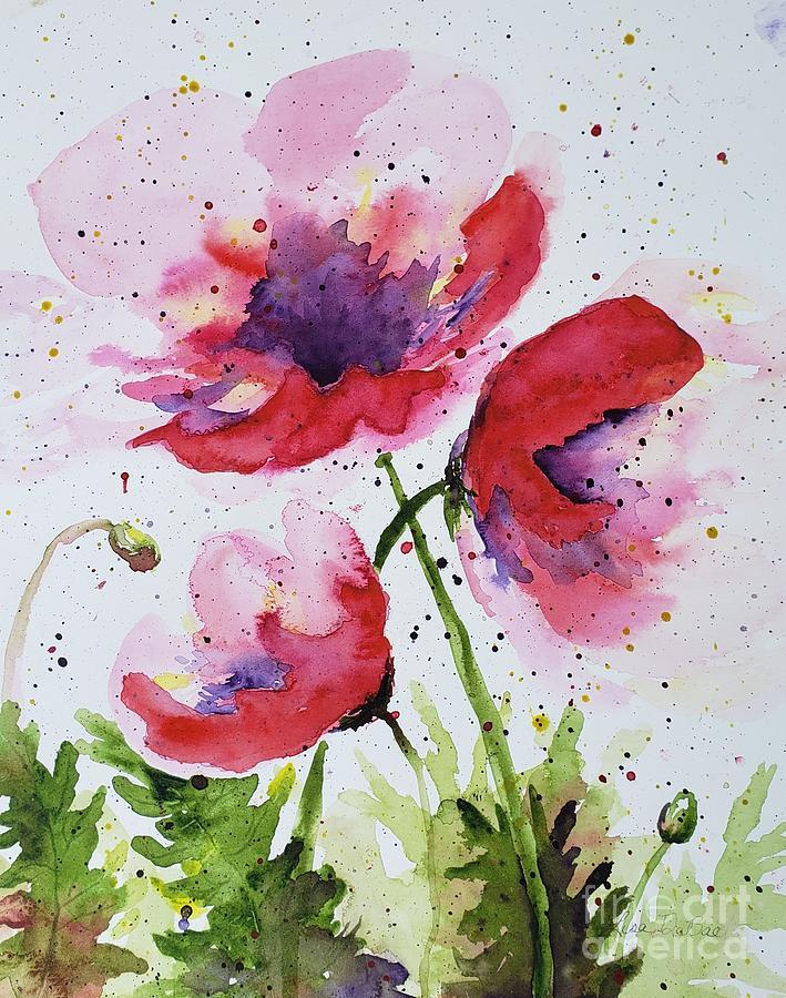Abstract Poppies by LISA DEBAETS