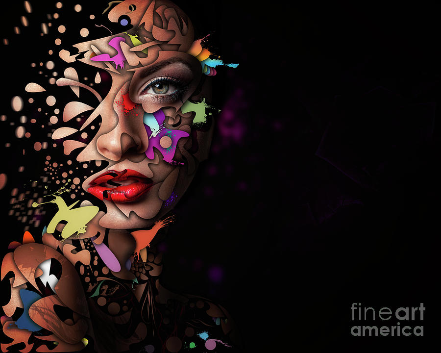 Female Photograph - Abstract Portrait No 12 by Erik Brede