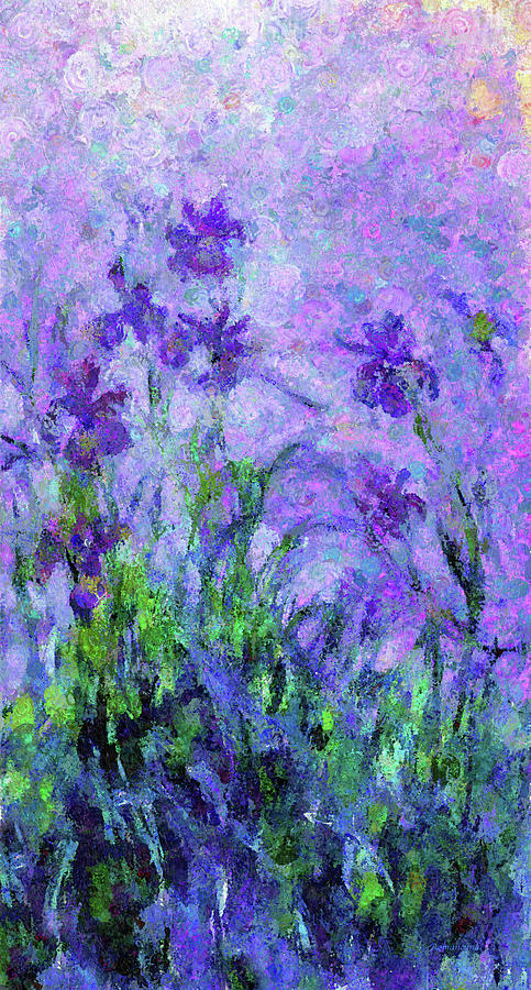 Abstract Realism Field Of Iris In Spring by Georgiana Romanovna