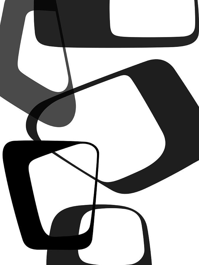 Abstract Digital Art - Abstract Rings II by Naxart Studio