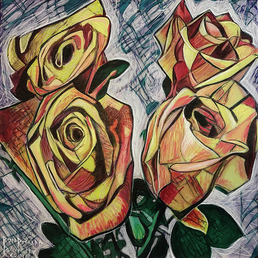 Abstract Roses by Ron Richard Baviello