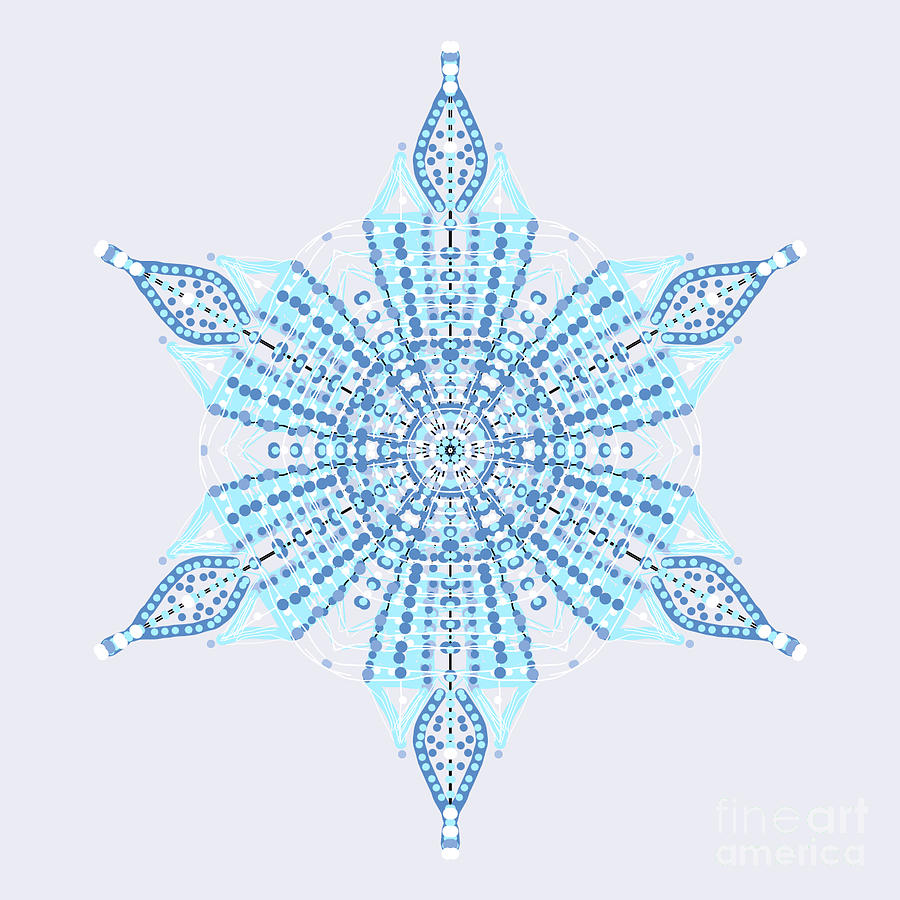 Abstract Snowflake by Catherine Lott